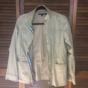 TOMMY HILFIGER army green jacket
